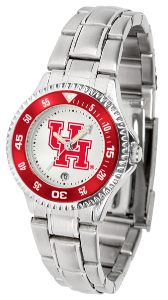 Suntime  Houston Cougars Ladies Competitor Steel Watch